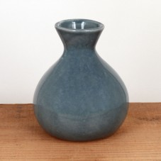 blue ceramic vase $26