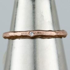 14kt rose gold diamond ring  $464