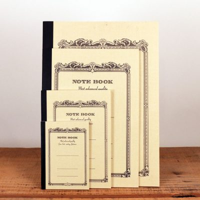 Vintage cream notebooks come in six colors and 4 sizes: tiny, small, medium, and large.