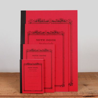 Vintage red notebooks come in six colors and 4 sizes: tiny, small, medium, and large.