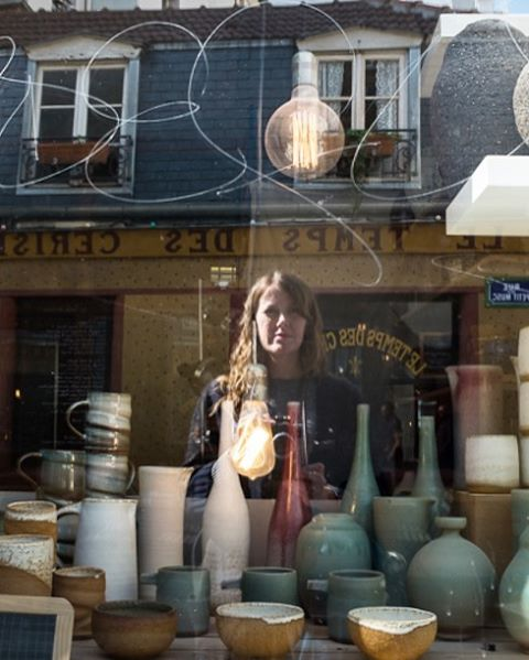 Searching for ceramics in Paris.