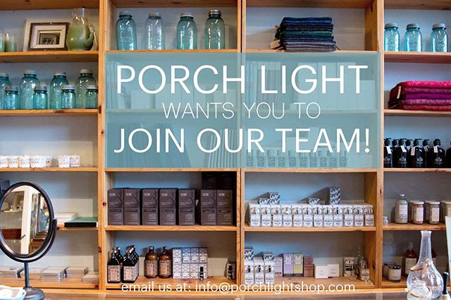 Porch Light Portland is looking for a part-time sales associate to come and join our team. The ideal candidate for this position understands our aesthetic and represents our style to our customers. Because our shop is a busy place, it is important to learn and act quickly, confidently and positively and manage many different aspects of the store. ⠀ ⠀ This person also possesses:⠀ - Strong customer service skills. You should truly enjoy working with people (customers and co-worker), presenting a positive attitude to welcome all customers, vendors and neighbors into the shop.⠀ ⠀ - Self-motivation. If you see a messy cupboard or disorganized area you take the initiative to clean and organize without being asked. You see a display that need reworking and rework it.⠀ ⠀ - Ability to and interest in regularly merchandizing the shop to reflect its overall look and feel.⠀ ⠀ - Shop and counter skills including re-stocking products and packaging, checking in merchandise, packaging web orders, keeping the shop clean and displays full and fresh, working the sales floor and the front counter.⠀ ⠀ - Experience and comfort using, adapting to and learning multiple software programs and social media tools. Some of the applications we use are Word, Excel, Photoshop, WordPress, VEND and Mailchimp. ⠀ ⠀ - Comfort with social media tools. We currently use Facebook, Twitter, Instagram and Pinterest. ⠀ ⠀ Position Requirements:⠀ - Previous experience working in a retail environment.⠀ - Strong organizational, multi-tasking and communication ⠀ skills.⠀ - Self-motivated, outgoing personality with a positive ⠀ outlook and excellent people skills.⠀ - Must have weekend and holiday availability.⠀ ⠀ If you are interested please submit a resume and a note outlining why your skills are a good match for this position and why you are interested in working at Porch Light.  Please also include your availability.  If we think you are a good match we will contact you to set up an interview. We look forward to