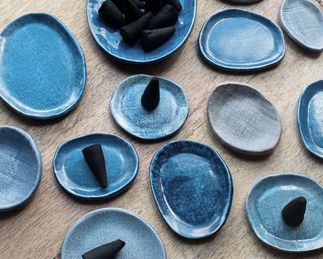 These tiny ceramic dishes are perfect for incense cones, Palo Santo wood or for holding your favorite tiny pieces of jewelry.