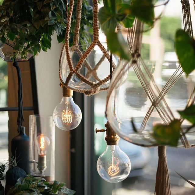 Edison bulbs: the original bright idea! Hang them from a cord or use them in a collection of small lamps- either way, they're sure to make an impact on your space!