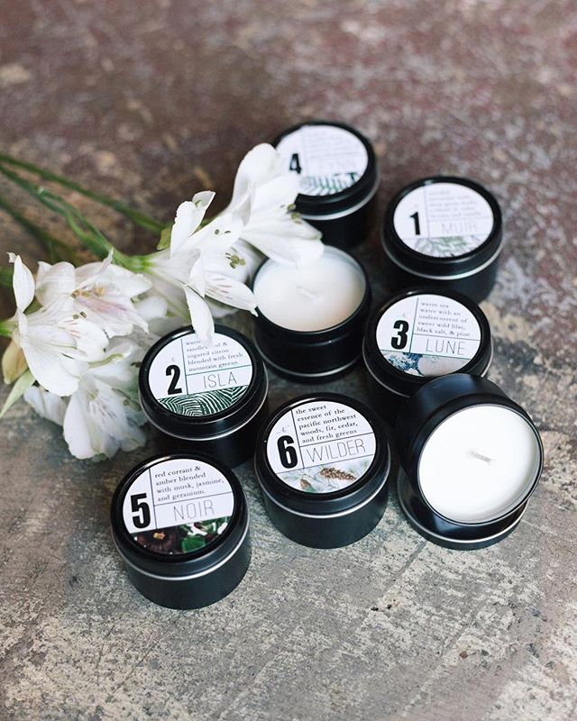 Our favorite candles by Portland's very own @trulykindred now come in a sweet little travel sized tin.  We've got all six scents in stock.