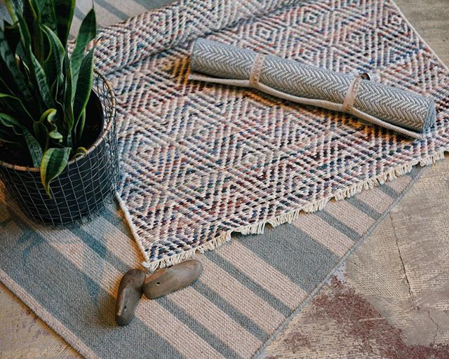 """It's overcast and back to normal PNW weather out there, and nothing sounds better to us than """"rugging up""""! We've got loads of new rug styles for adding a pop of color to your bedroom, kitchen, or living room that'll take you from Summer to Winter, and back again!"""