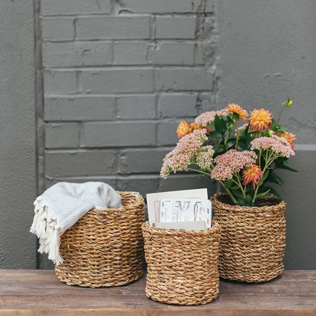 We've got loads of new baskets and planters for all your plant friends... and really anything else you need a basket for.