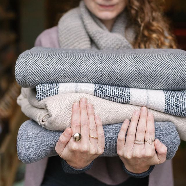 We're here to help you get ready for fall with piles of cozy blankets in cashmere, linen and cotton.