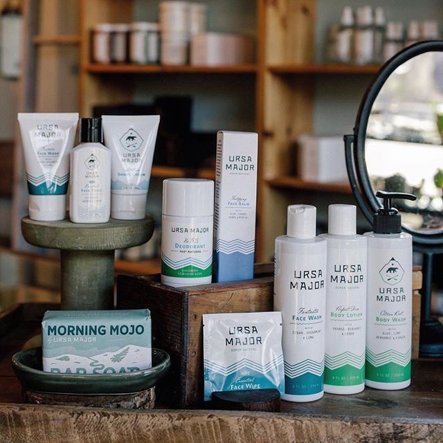 We're stocked up on all of your favorite Ursa Major face and body products.  Our favorites: the No BS Deodorant (baking soda free) and the Travel Face Wipes.  Stop in and try something new.  We've got samples!