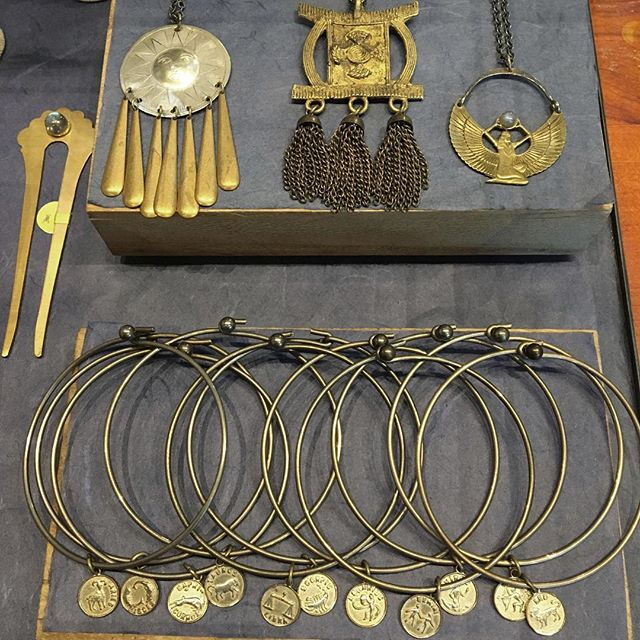 Just a small sampling of the beautiful jewels by @shopsesen that will be here through February 14th.  They are nearly all vintage and one of a kind so stop by soon to check them out!!