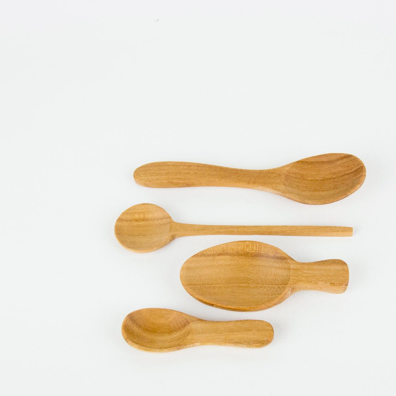 Teak Mini Spoons