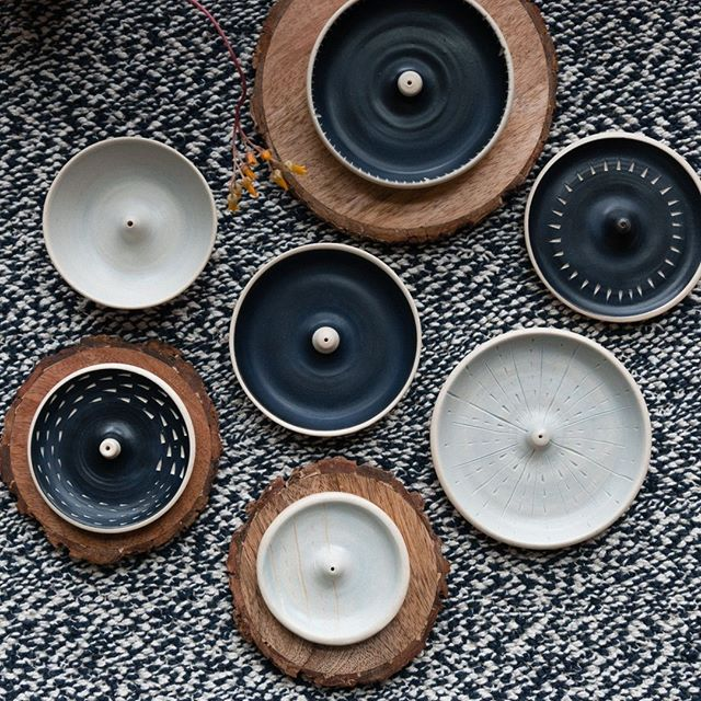 New handmade ceramic incense burners. These little beauties are flying out the door, so hurry in if you want one!