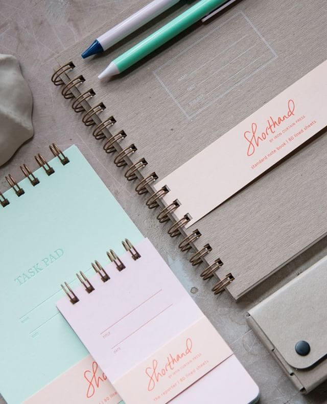 Love these new notebooks in their pale spring colors!