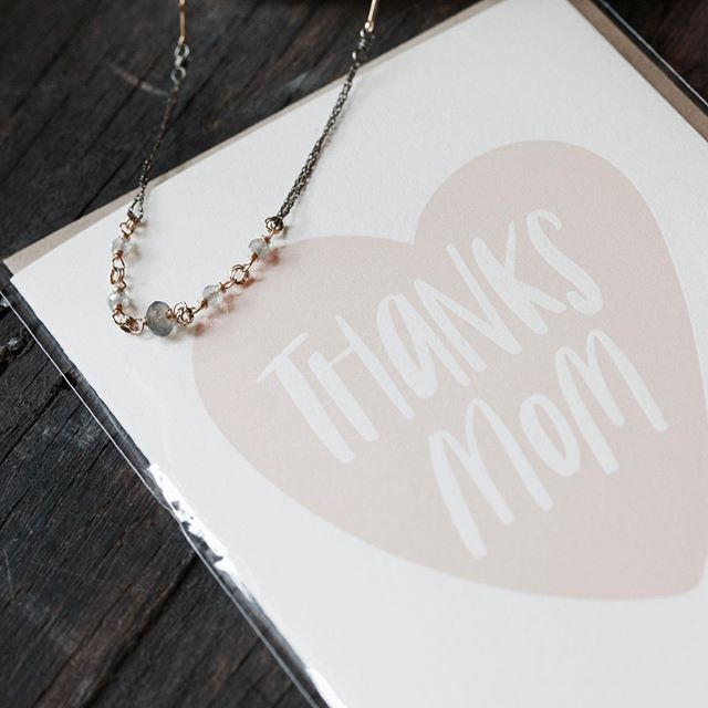 Mother's Day is just around the corner and we are preparing a small gift guide to help you find a perfect treasure for your mom like this sweet necklace by @amyolsonjewelry