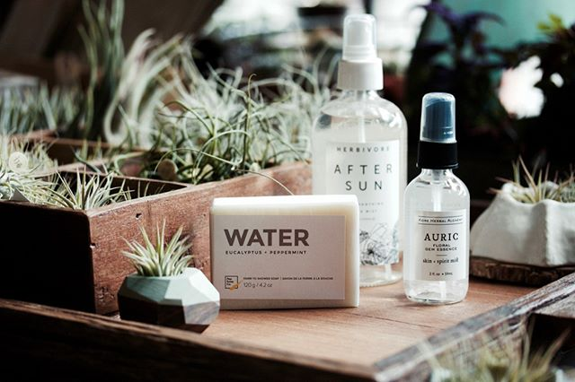 Summer essentials from @kore.herbal @herbivorebotanicals and @pepsoap ️