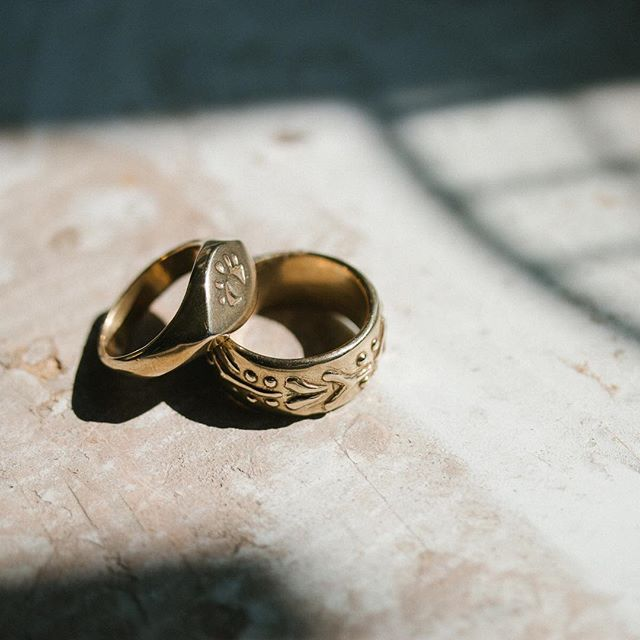 New brass rings by @marisamasonjewelry.