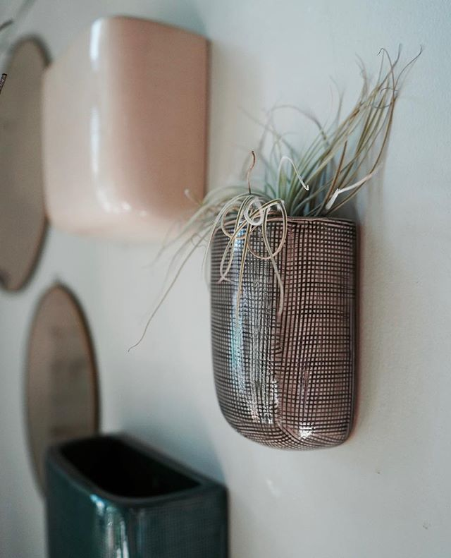 New ceramic wall planters are in the shop. Larger size is also perfect for holding your mail
