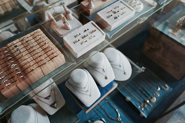 Our cases hold so many beautiful jewelry pieces and new Emily Amey rings are coming to the shop soon!