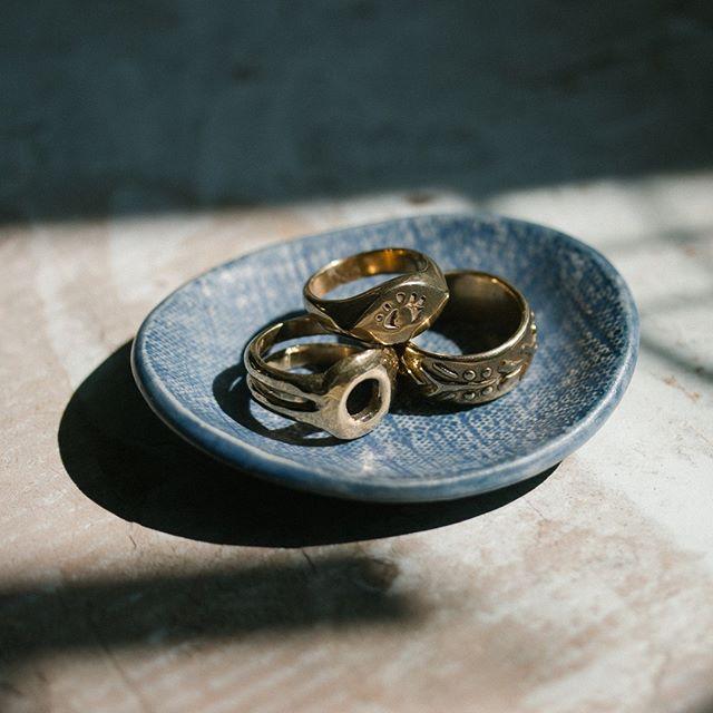 Perfect set of brass rings by @marisamasonjewelry