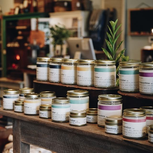 Have you tried our new in-house line of candles yet?  We have five beautiful scents including Palo Santo wood, black tea and bergamot, sea salt and pine, fig, northwest forest and earthy wood with a hint of patchouli. Stop in and pick one up today!