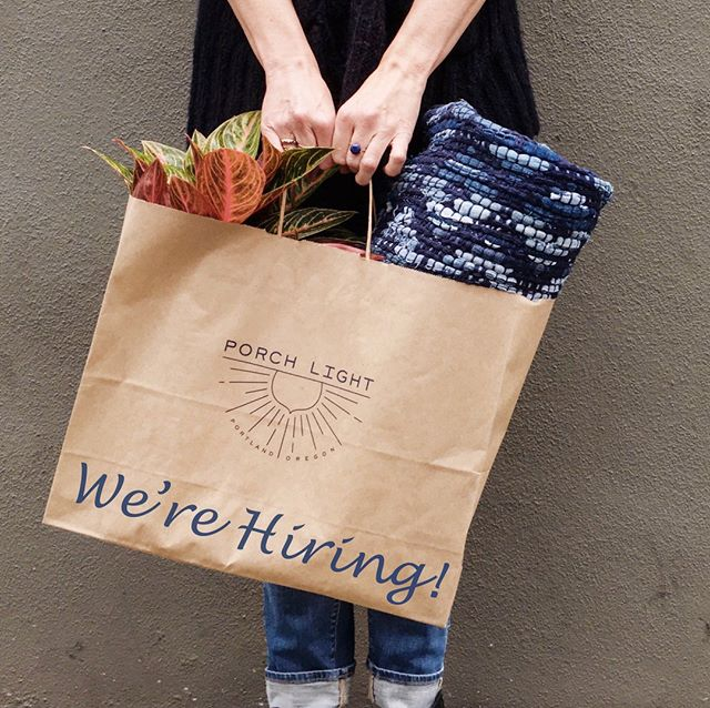 Porch Light Portland is seeking a new part-time employee to join our team. The ideal candidate for this position is confident, friendly and outgoing, understands our aesthetic and represents our style to our customers, has excellent customer service skills, strong retail experience and a creative mind. Some knowledge of plant care is a plus. The position is for 2 to 3 days per week from 10:45am to 6:15pm INCLUDING WEEKENDS. If you are interested in applying please email a cover letter and resume to info@porchlightshop.com or drop one by the shop and say hello. We look forward to hearing from you (or your friends, so please pass it along!).