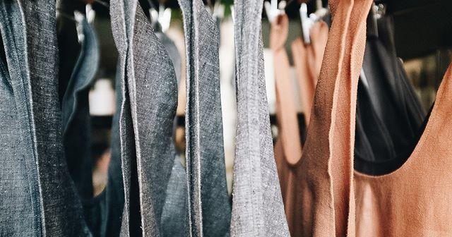 Pretty colors and textures of @portlandaproncompany pinafore aprons