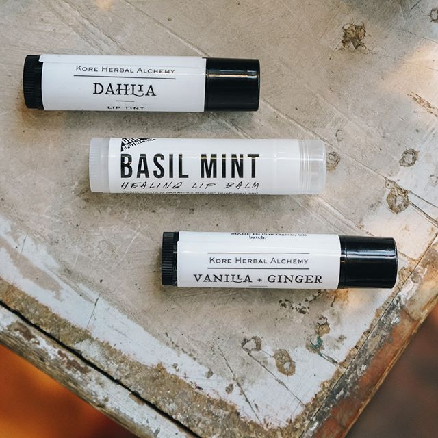 Must-haves of the season! Have you tried our lip balms from @kore.herbal and @urbapothecary ?