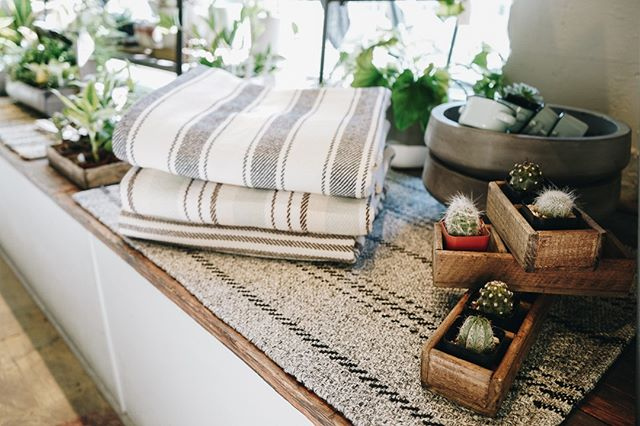 Time to get cozy. Stop by the shop to pick your new favorite blanket.