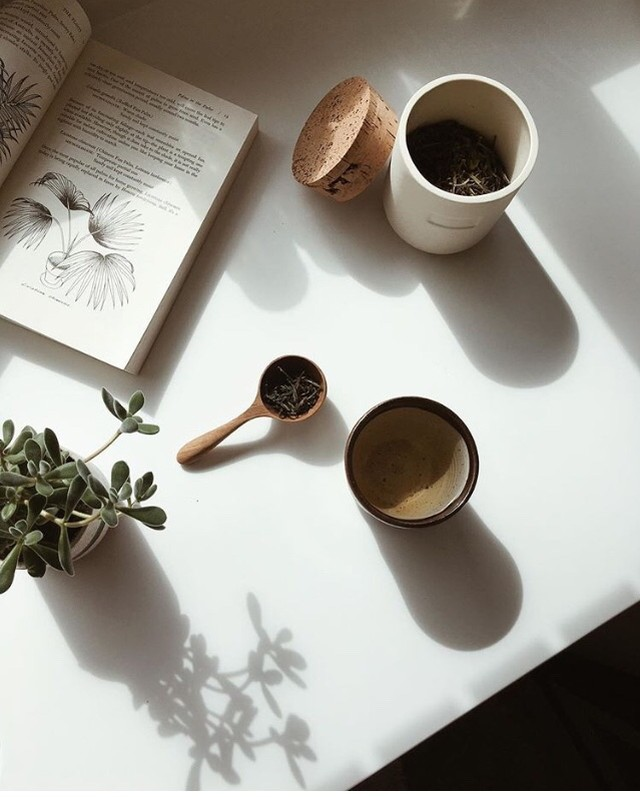 "Nothing says ""slow your roll"" like a warm cup of tea and a good read. Gentle reminder to make time for peace and quiet amid the holiday hustle. . . . . . . . . . . . ."