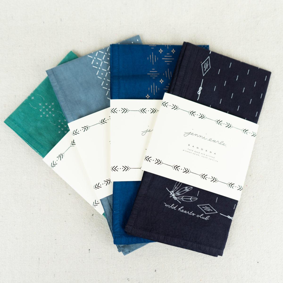 hand-dyed-and-printed-bandanas