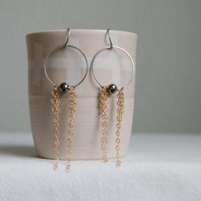 chain-hoop-earrings