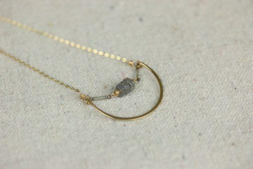 nested labradorite necklace