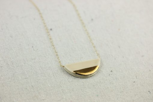 large half pebble necklace