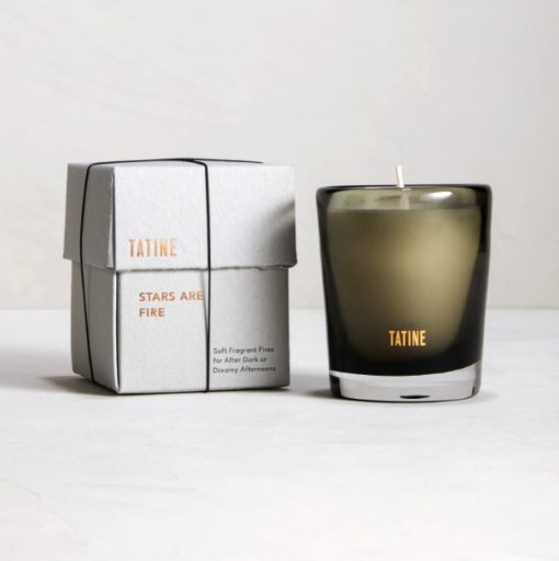 Tatine candle in new glass packaging